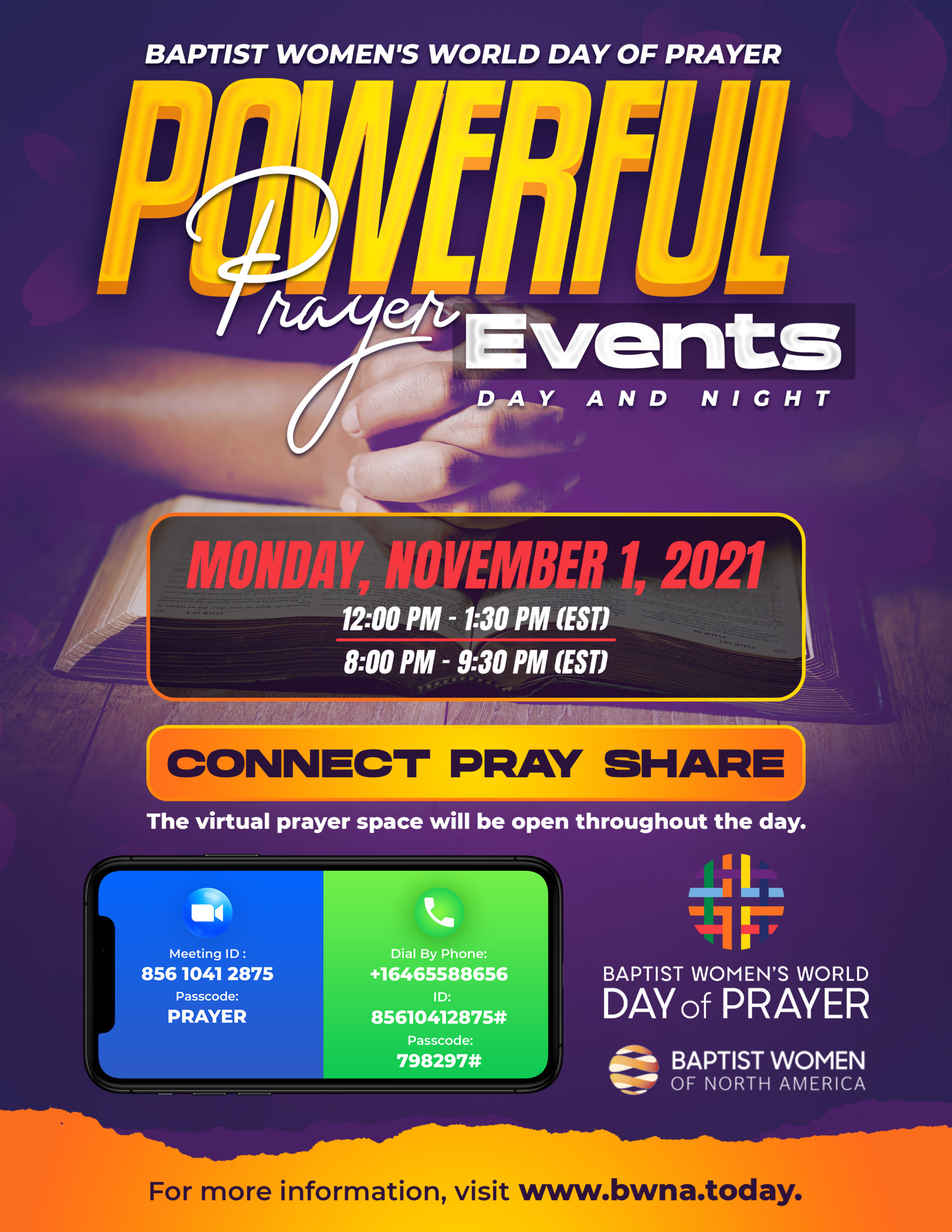 BWNA Day of Prayer Events 2021